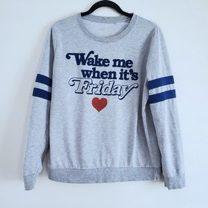 """Wake Me When It's Friday"" 80s vintage style top"